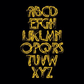 Dibujado a mano alfabeto vector