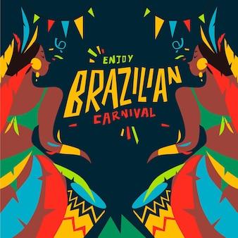 Dibujado a mano carnaval brasileño