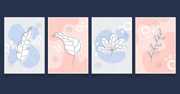 Dibujado a mano colección de cubiertas minimalistas dibujadas a mano