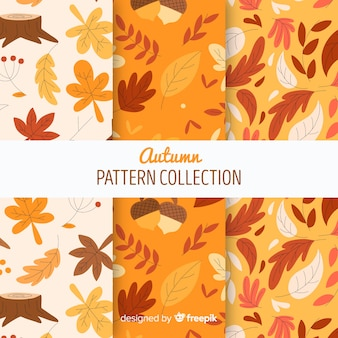 Dibujado a mano colección otoño patrón