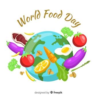 Dibujado a mano comida mundial da
