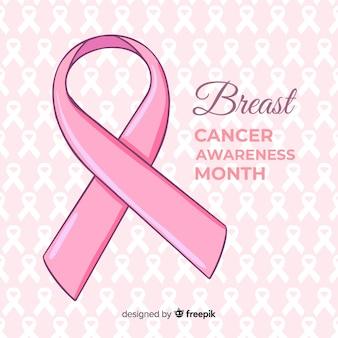 Dibujado a mano conciencia del cáncer de mama