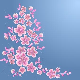 Dibujado a mano decorativos elementos florales vectoriales para el diseño. elemento de la decoración de la página.