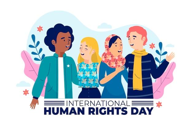 Dibujado a mano día de los derechos humanos