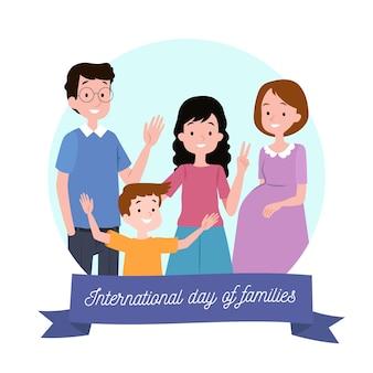 Dibujado a mano día internacional de las familias