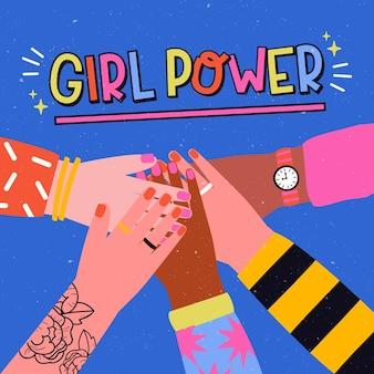 Dibujado a mano el día internacional de la mujer
