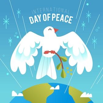 Dibujado a mano día internacional de la paz