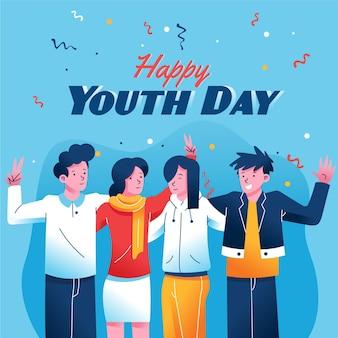 Dibujado a mano día de la juventud