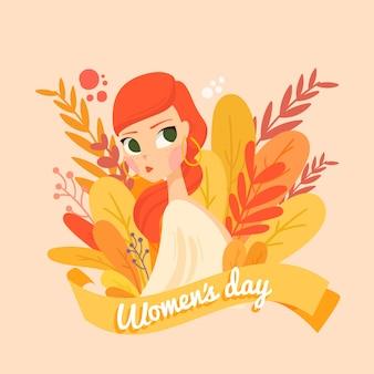 Dibujado a mano el día de la mujer