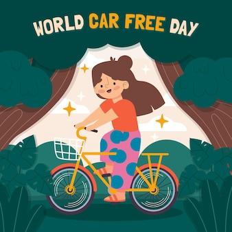 Dibujado a mano día mundial del automóvil