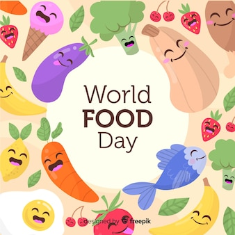 Dibujado a mano el día mundial de la comida