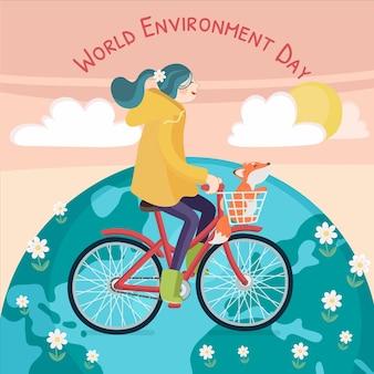 Dibujado a mano día mundial del medio ambiente salva el planeta ilustración