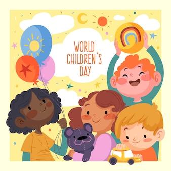 Dibujado a mano día mundial del niño