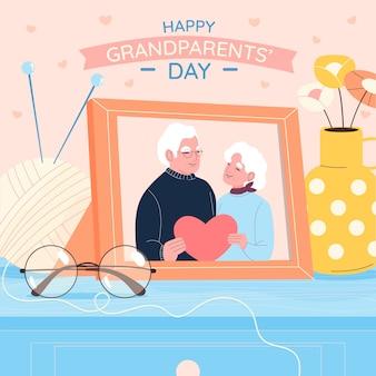 Dibujado a mano día nacional de los abuelos usa