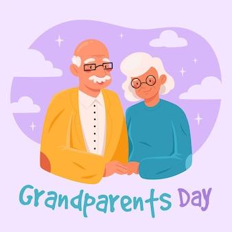 Dibujado a mano el día nacional de los abuelos