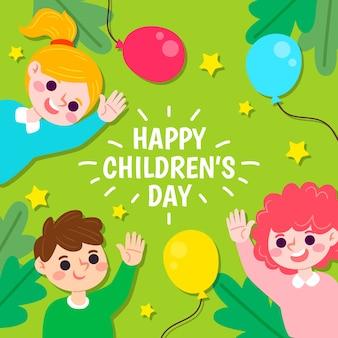 Dibujado a mano el día del niño