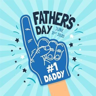 Dibujado a mano el día del padre