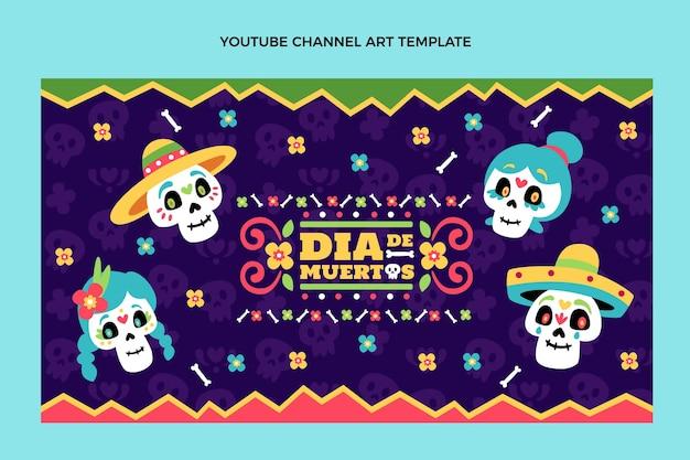 Dibujado a mano diseño plano dia de muertos canal de youtube art