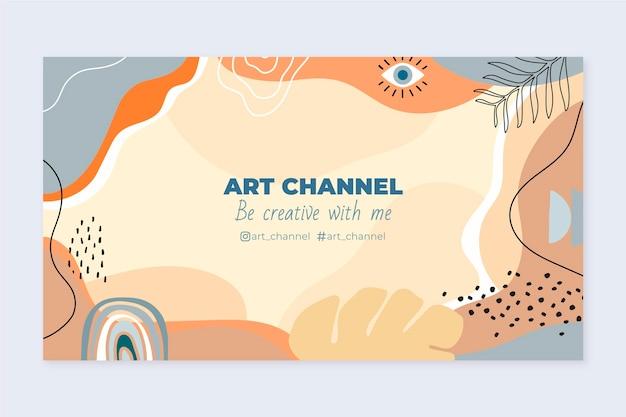 Dibujado a mano diseño plano formas abstractas canal de youtube arte