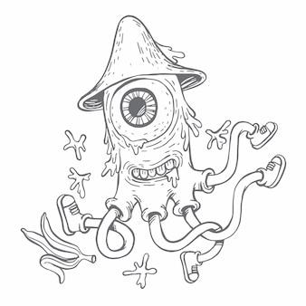 Dibujado a mano estilo doodle