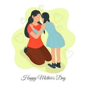 Dibujado a mano feliz día de la madre ilustración