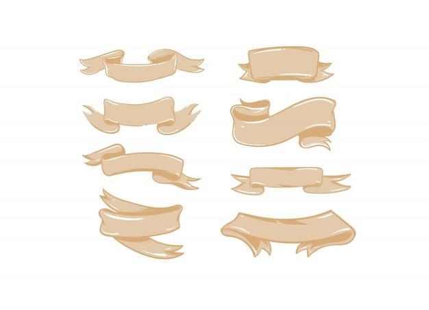 Dibujado a mano feliz navidad tiempo de compras big coon simple logotipo de ilustraciones con cintas de papel artesanal sobre fondo blanco