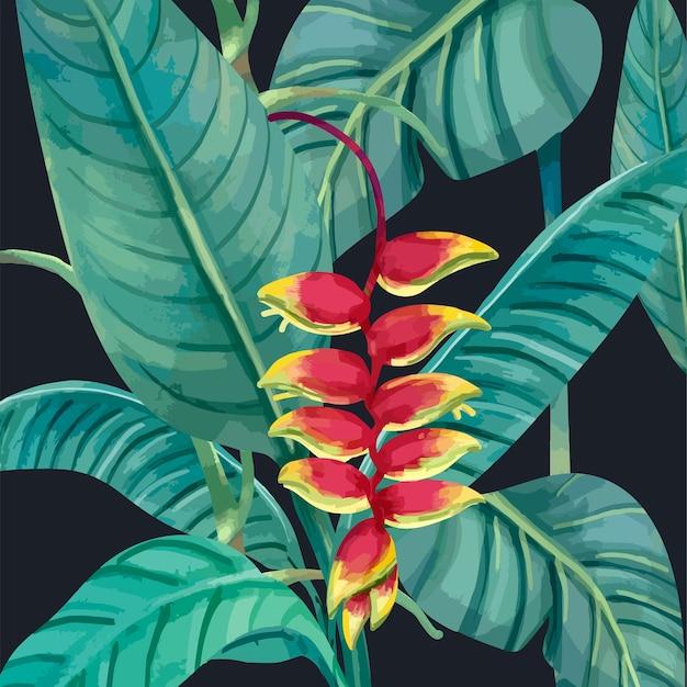 Dibujado a mano flor de langosta
