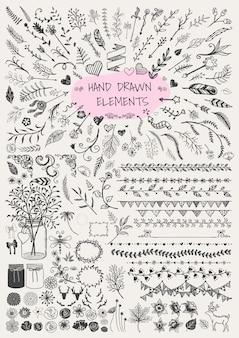 Dibujado a mano floral