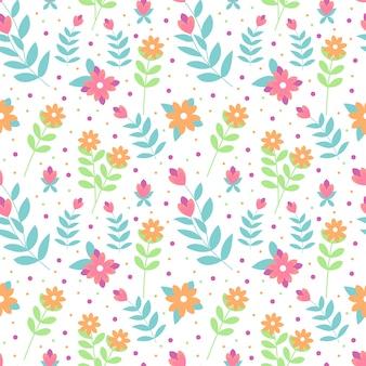 Dibujado a mano flores de colores pastel de patrones sin fisuras