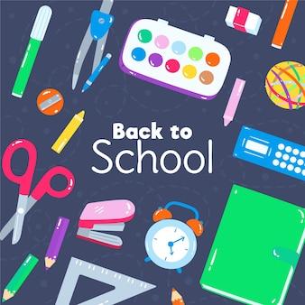Dibujado a mano a fondo de la escuela