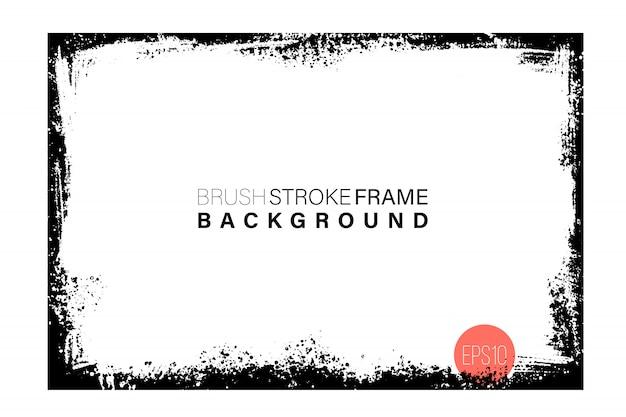 Dibujado a mano grunge marco de forma rectangular.