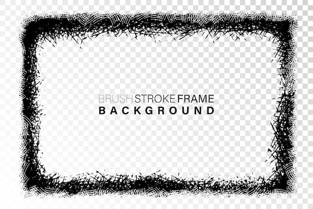 Dibujado a mano grunge marco forma rectangular
