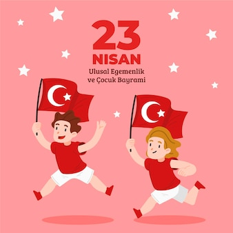 Dibujado a mano ilustración 23 de nisan