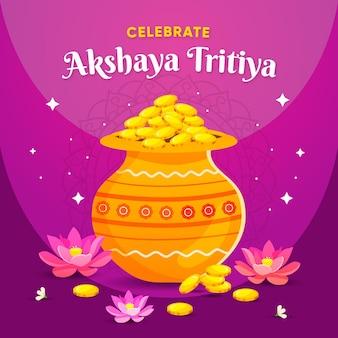 Dibujado a mano ilustración de akshaya tritiya