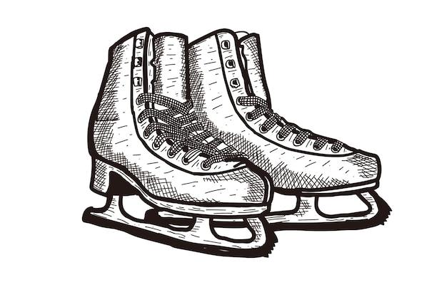 Dibujado a mano ilustración de botas de nieve