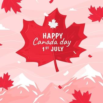 Dibujado a mano ilustración del día de canadá