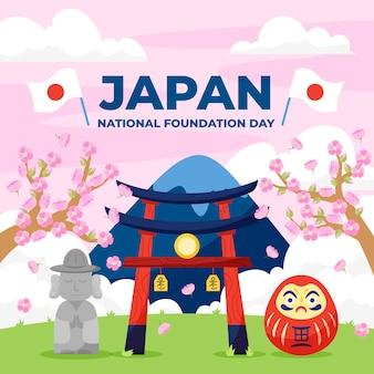 Dibujado a mano ilustración del día de la fundación