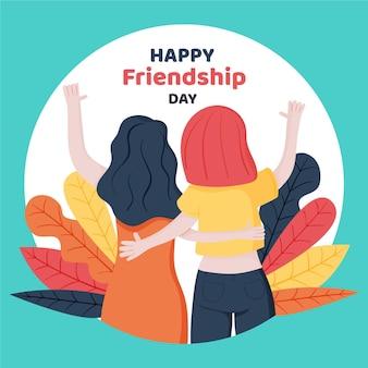 Dibujado a mano ilustración del día internacional de la amistad