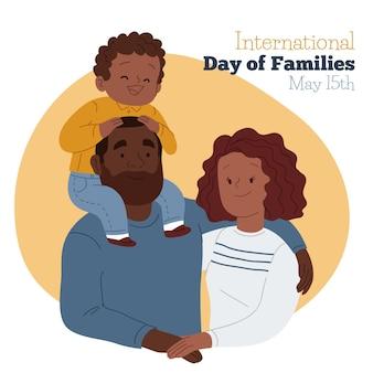 Dibujado a mano ilustración del día internacional de las familias