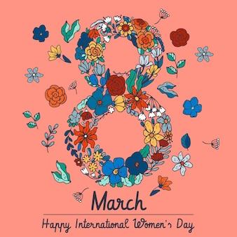 Dibujado a mano ilustración del día internacional de la mujer