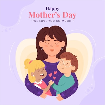 Dibujado a mano ilustración del día de la madre
