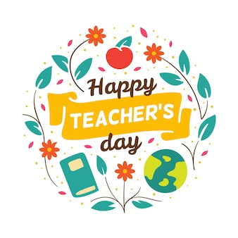 Dibujado a mano ilustración del día del maestro