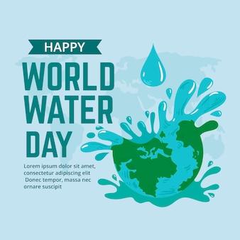Dibujado a mano ilustración del día mundial del agua