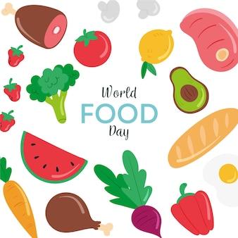 Dibujado a mano ilustración del día mundial de la alimentación