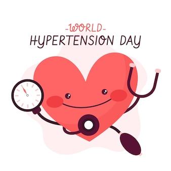 Dibujado a mano ilustración del día mundial de la hipertensión