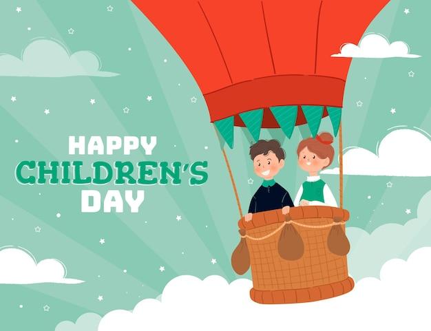 Dibujado a mano ilustración del día mundial del niño