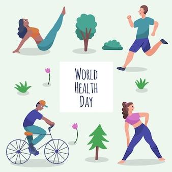 Dibujado a mano ilustración del día mundial de la salud