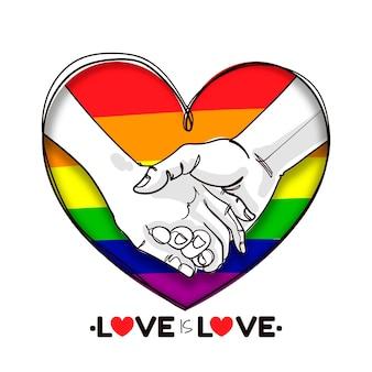 Dibujado a mano ilustración del día del orgullo