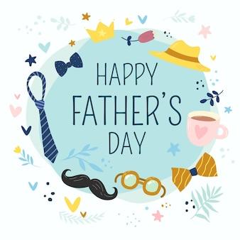 Dibujado a mano ilustración del día del padre