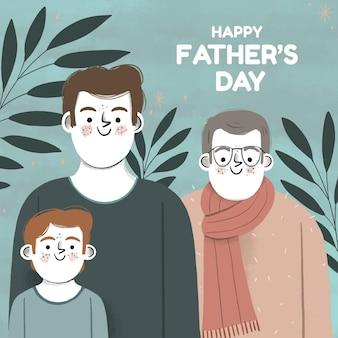 Dibujado a mano ilustración del día del padre vector gratuito